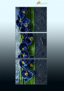 Схема для вышивки бисером на атласе Голубой каскад (триптих)