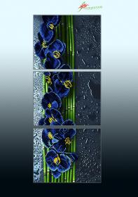 Схема для вышивки бисером на атласе Голубой каскад (триптих) А-строчка АР3-015 - 225.00грн.