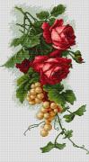 Набор для вышивки крестом Красные розы с виноградом