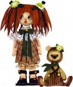 Набор для шитья куклы и мягкой игрушки Девочка с мишкой