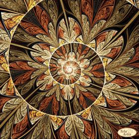 Схема для вышивки бисером на атласе Фрактал Спираль жизни, , 98.00грн., ТА-366, Tela Artis (Тэла Артис), Рисунки на ткани для вышивки бисером Веселые картинки
