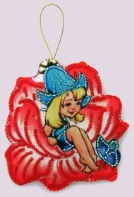 Набор для изготовления игрушки из фетра для вышивки бисером Дюймовочка, , 48.00грн., F119, Баттерфляй (Butterfly), Сказочные персонажи