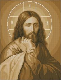 Схема вышивки бисером на габардине Иисус Эдельвейс АР-2-25 - 170.00грн.