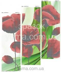 Схема вышивки бисером на атласе Маки (Триптих) Юма ЮМА-Т-6 - 180.00грн.