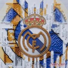 Набор-мини для вышивки бисером на натуральном художественном холсте ФК Реал Мадрид Абрис Арт АМ-209