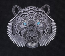 Набор для вышивки крестом Белый тигр Абрис Арт АН-126