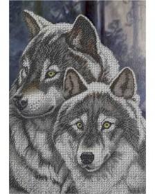 Схема для вышивки бисером на габардине Вовки