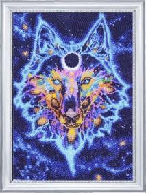 Набор для вышивки бисером Звездный волк