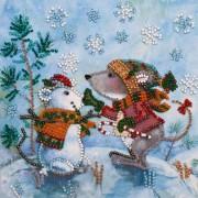 Набор - мини для вышивки бисером Снежный друг