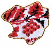 Набор - магнит для вышивки бисером Карта Украины Харьковская область