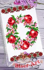 Схема вышивки бисером на габардине Рушник на праздника Спаса