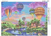 Схема вышивки бисером на атласе Воздушные шары