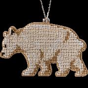 Набор для вышивки бисером по дереву Медведь