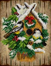 Набор для вышивки ювелирным бисером Рождественские истории 14 Краса и творчiсть 30915