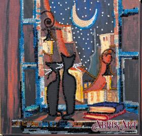Набор-миди для вышивки бисером на натуральном художественном холсте В окошке кошки Абрис Арт AMB-043 - 219.00грн.