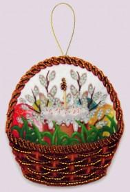 Набор для изготовления игрушки из фетра для вышивки бисером Празднчная корзинка, , 48.00грн., F134, Баттерфляй (Butterfly), Сказочные персонажи