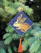 Набор для вышивки нитками Новогодняя игрушка Гороскоп королик