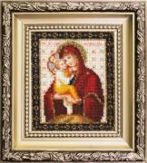Набор для вышивки ювелирным бисером Икона Божьей Матери Почаевская