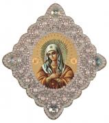 Набор для изготовления подвески Богородица Неувядаеый цвет