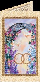 Набор - открытка для вышивки бисером С Днём Бракосочетания 3 Абрис Арт АО-111 - 68.00грн.