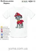 Детская футболка для вышивки бисером Маршал РАЗМЕР L