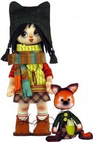Набор для шитья куклы и мягкой игрушки Девочка с лисенком Zoosapiens К1072Z - 595.00грн.