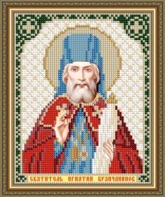 Схема вышивки бисером на авторской канве Святитель Игнатий Брянчанинов