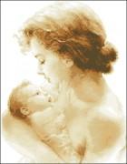 Схема вышивки бисером на атласе Материнство