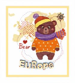 Набор для вышивания крестом Crystal Art Детский мир. Европа