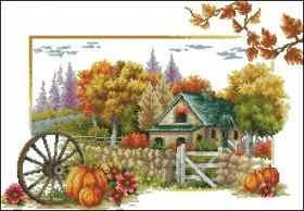 Схема вышивки бисером на габардине Осень, , 105.00грн., С-260 Осінь, Эдельвейс, Пасхальная вышивка
