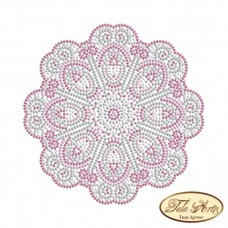 Схема вышивки бисером на габардине Мандала Нежное суфле Tela Artis (Тэла Артис) МА-002(2) ТА