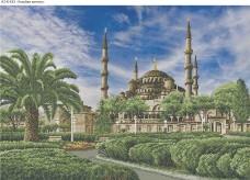 Схема для вышивки бисером на габардине Голубая мечеть Acorns А2-К-433