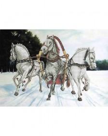 Схема вишивкі бісером на габардині Трійка коней Acorns А3-К-729 - 70.00грн.