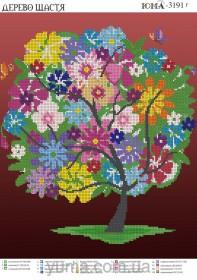 Схема вышивки бисером на атласе Дерево счастья Юма ЮМА-3191Г - 62.00грн.