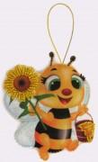 Набор для изготовления игрушки из фетра для вышивки бисером Пчёлка