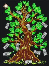 Схема для вышивки бисером на атласе Дерево достатка Миледи СЛ-3075