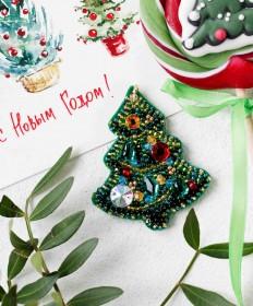 Набор для создания украшения Новогодняя елочка Абрис Арт AD-094 - 148.00грн.
