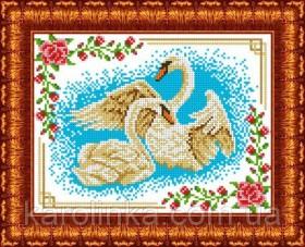 Набор для вышивки бисером Лебеди