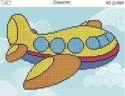 Схема для вышивки бисером на габардине Самолет