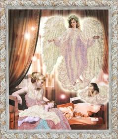 Схема вышивки бисером на ткани Ангел сна 2