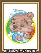 Рисунок на ткани для вышивки бисером Медвежонок