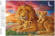 Схема вышивки бисером на атласе Цари зверей
