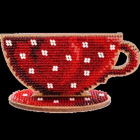 Набор для вышивания бисером по дереву Чашка