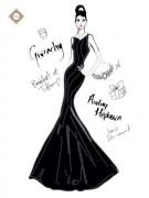 Схема для вышивки бисером на атласе Дом Моды Givenchi