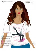 Женская футболка для вышивки бисером Париж