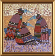 Схема для вышивки бисером на атласе Сплетницы