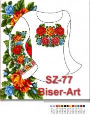 Заготовка для вышивки бисером Сорочка женская Biser-Art Сорочка жіноча SZ-77 (габардин)