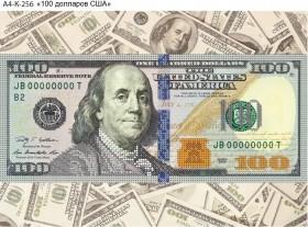 Схема для вышивки бисером на габардине 100 долларов США Acorns А4-К-256 - 45.00грн.