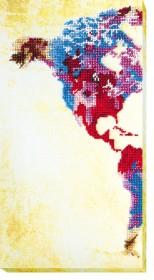 Набор для вышивки бисером Карта мира -1, , 232.00грн., АВ-463, Абрис Арт, Картины из нескольких частей