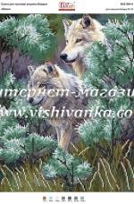 Схема для вышивки бисером на атласе Волки